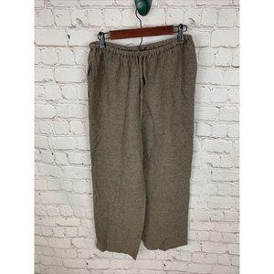 Eileen Fisher Lagenlook Linen Rayon Pants Brown Wi